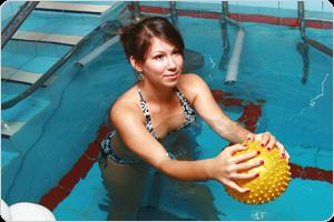медицина, вода, упражнения,мяч